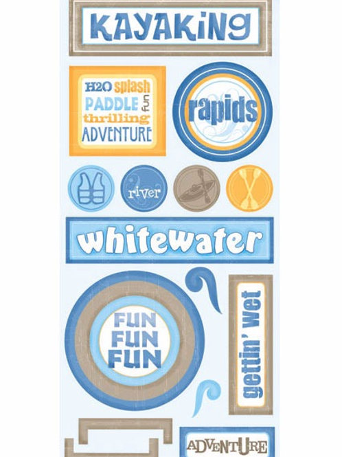 Kayaking Adventure Stickers