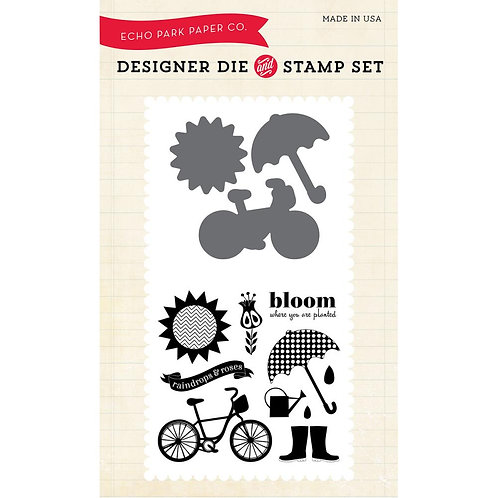 Bloom Where You Are Planted Stamp and Die Set