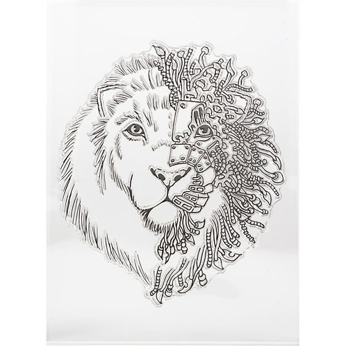 Lion Mixed Media Clear Stamp