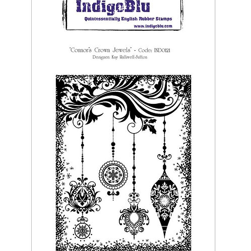 Connors Crown Jewels Cling Rubber Stamp