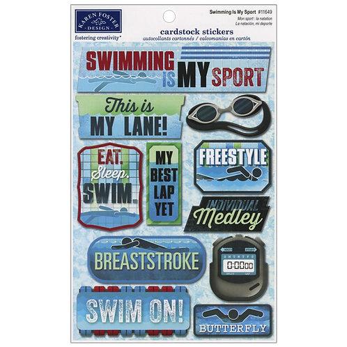 Swimming is My SportSticker Sheet