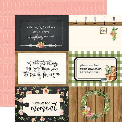 Spring Market 4x6 Journaling Cards Cardstock