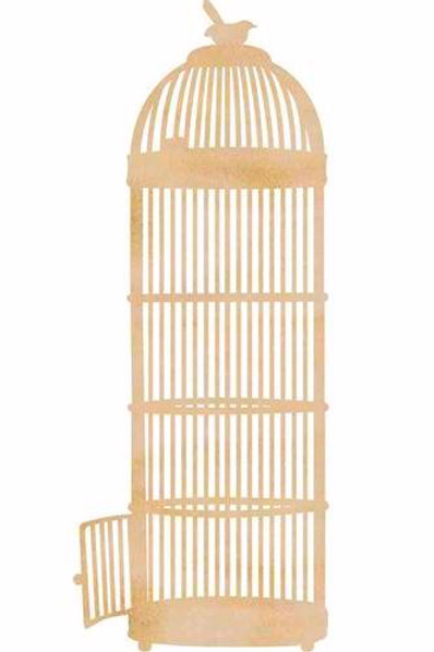 Wooden Flourishes Long Birdcage