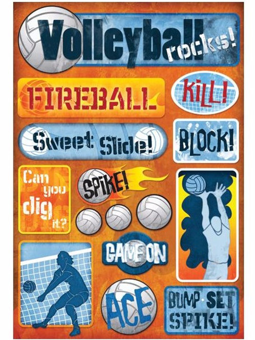 Volleyball Rocks Sticker Sheet