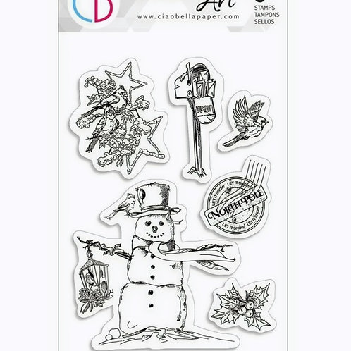 North Pole Clear Stamp Set