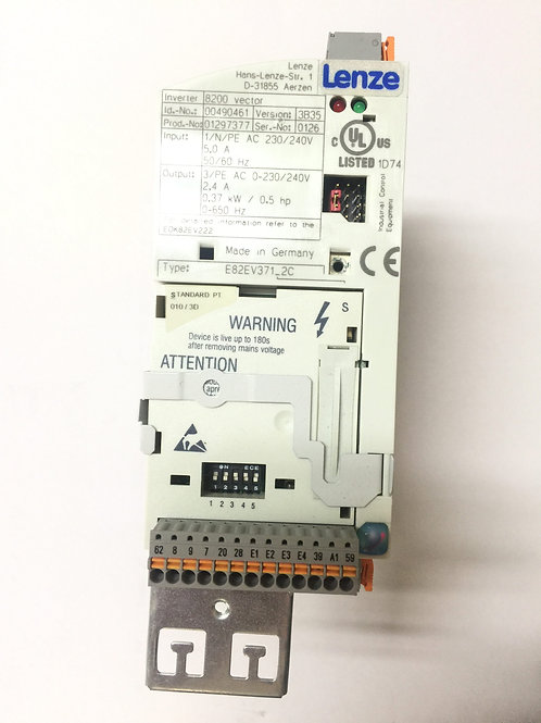 LENZE 8200 VECTOR INVERTER E82EV371_2C 010/3D