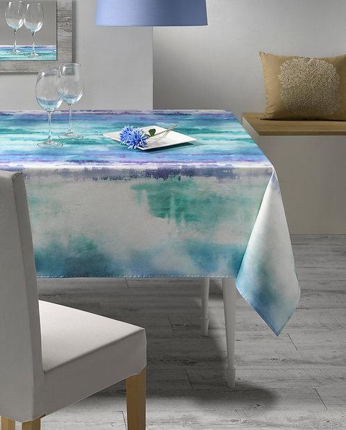 Tischtuch / Set / Läufer Aqua, Stoffbreite 150 cm
