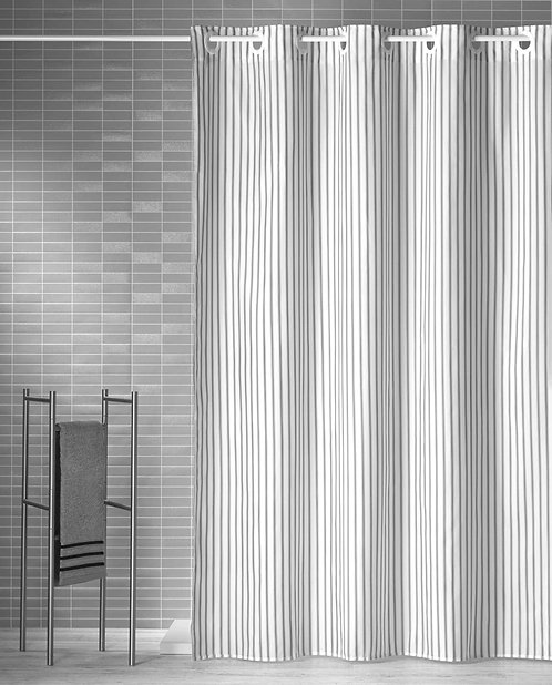 Duschvorhang Streifen schmal