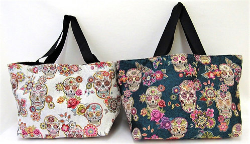 Trendige Mexikanische Calavera designe Tasche aus Stoff