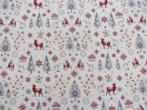 Weihnachtstischtuch mit Saum, Stoffbreite: 140 cm