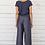 Thumbnail: Top drapé à manches courtes en coton