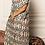 Thumbnail: Robe Kaftan voile de coton imprimé ikat