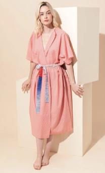 Robe kimono de plage en coton