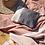 Thumbnail: Pochette brodée palmier argenté