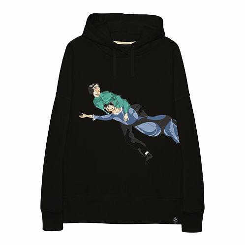Худи оверсайз с вышитым фрагментом картины Марка Шагала «Над городом»