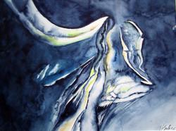 Gemskopf in blau