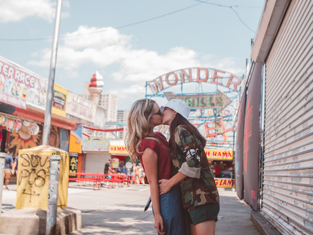 Featured: Maddie and Emily's Styled Couple's Session at Coney Island | NYC, New York