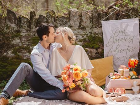 A Picnic Elopement | Stylized Bridal | Wissahickon Valley, PA