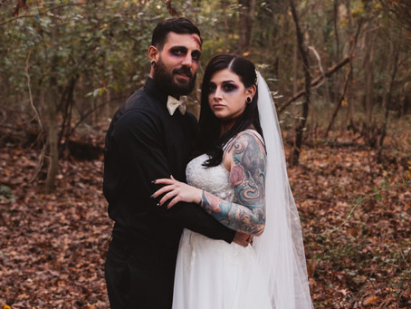 Hayley and Mark's Halloween Wedding | New Jersey