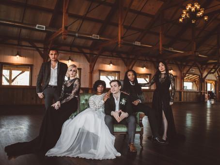 Winter Wedding   Stylized Bridal   Rosebank Winery, PA