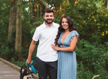 Micayla and Matt's Engagement Session at Boundary Creek Park | Delran, NJ