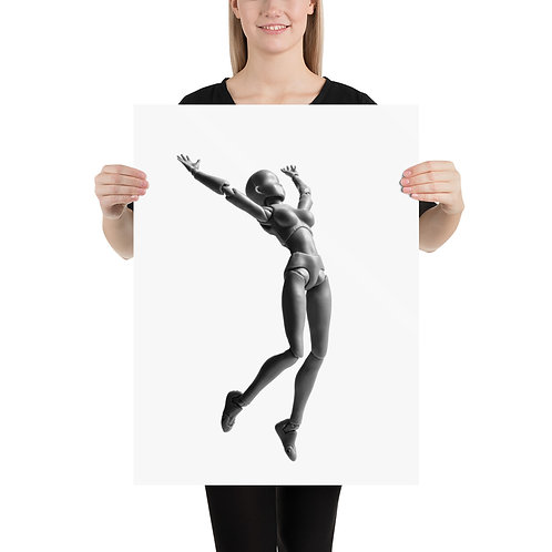 """""""Jumping Doll 1"""" by Melissa Toledo - Photo paper poster"""