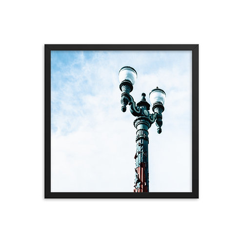 """Lamp Post"" by Melissa Toledo, 18""×18"" - framed photo poster"