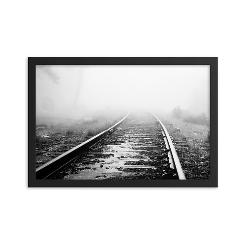 """Tracks into the Mist"" by Melissa Toledo, 12""×18"" - framed photo poster"