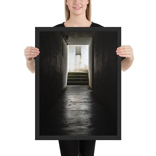 """Tunnel"" by Melissa Toledo - framed giclée poster"