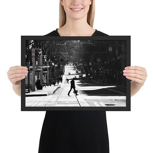 """Walking in PDX"" by Melissa Toledo - framed giclée poster"