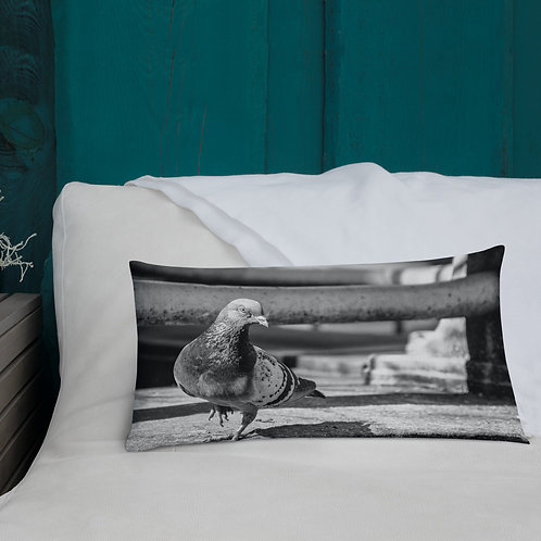 """City Pigeon"" by Melissa Toledo - Premium Pillow"