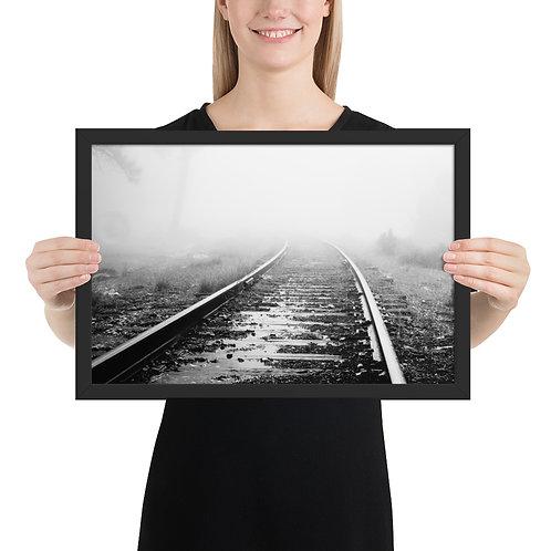 """Tracks in Mist"" by Melissa Toledo - framed giclée poster"