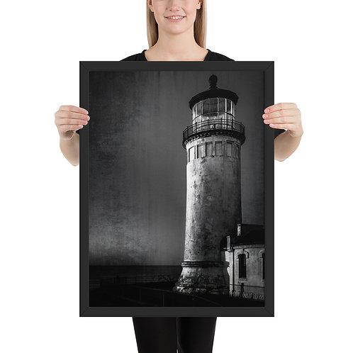 """""""Lighthouse"""" by Melissa Toledo - framed giclée poster"""