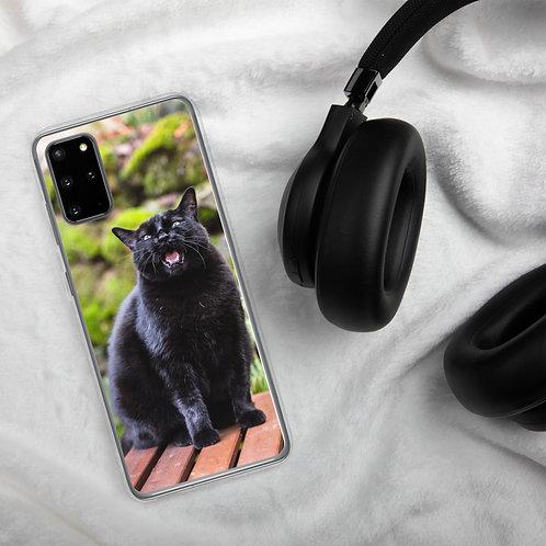 """Black Cat Talking"" by Melissa Toledo - Samsung Case"