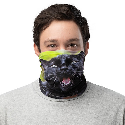 """Black Cat Talking"" by Melissa Toledo - Neck Gaiter"