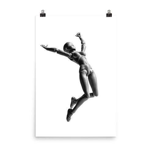 """""""Jumping Doll 3"""" by Melissa Toledo, 24""""×36"""" - photo poster"""