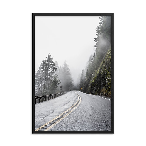"""On the Road"" by Melissa Toledo, #1105, 24""x36"" - framed photo poster"