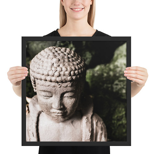 """Buddha Close-up 2"" by Melissa Toledo - framed giclée poster"