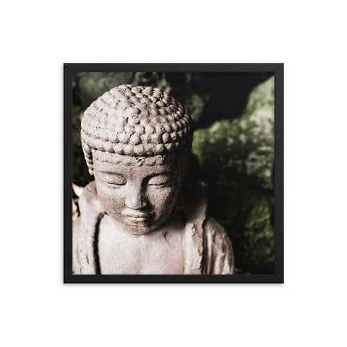 """Buddha Close-up"", 18""×18"" - framed photo poster"
