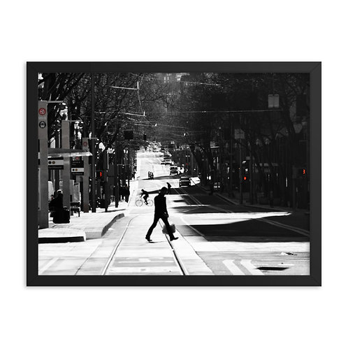 """Walking in PDX"" by Melissa Toledo, 18""x24"" - framed photo poster"