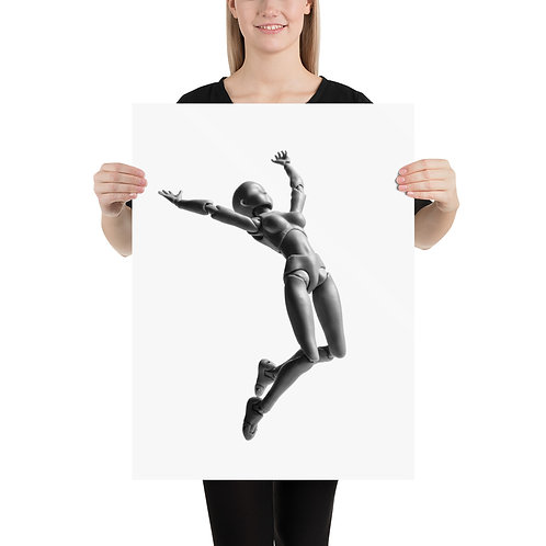 """Jumping Doll 3"" by Melissa Toledo. - Photo paper poster"