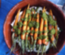 zough, zhoug, roasted carrots, straind yoghurt, labneh
