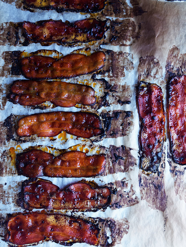 glazed bacon, maple glazed, gochujang