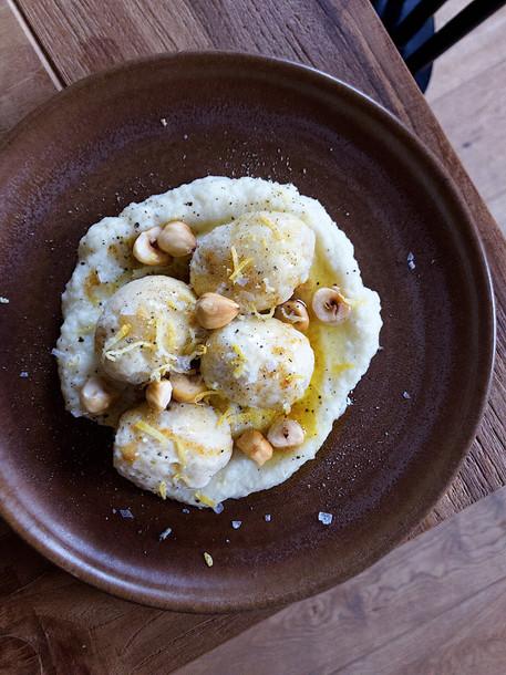Gnudi, Gnocchi, Cauliflower, Vegetarian