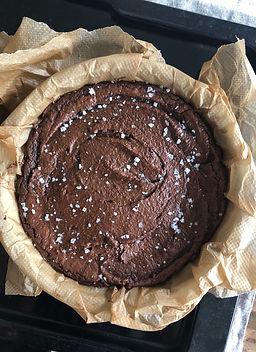 chocolate rye brownie, sea salt flakes, maldon sea salt