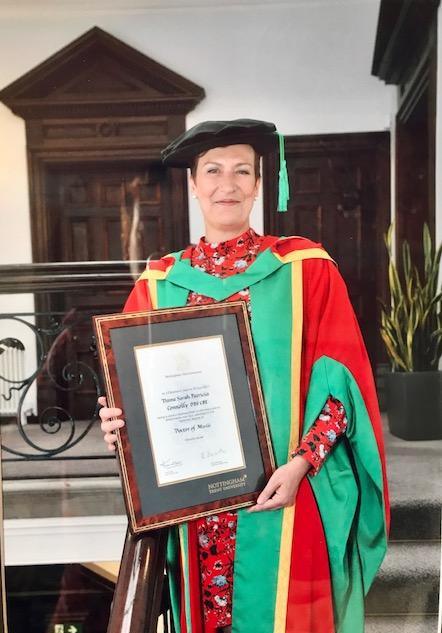 Receiving a Doctorate from Nottingham Trent University
