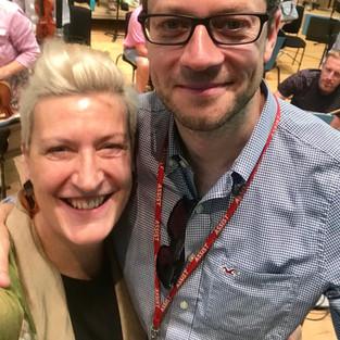 Sarah Connolly and John Wilson - recording Richard Rodney Bennett with the BBCSCO