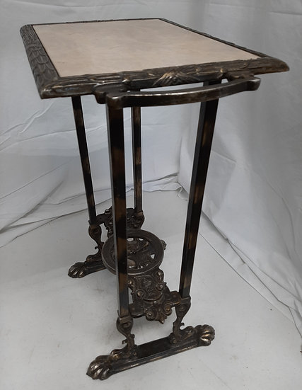 SOLD      Fish Tank Stand, Cast Iron and Marble