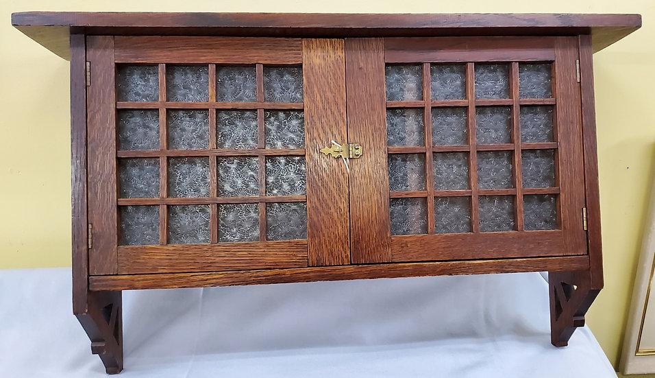 SOLD     Hanging Cabinet, Quarter Sawn Oak.