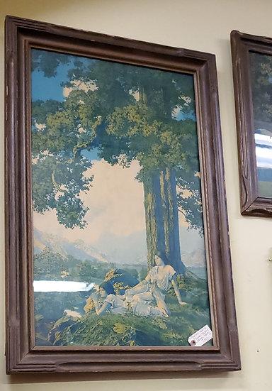 SOLD           Original Maxfield Parrish print in Original Frame